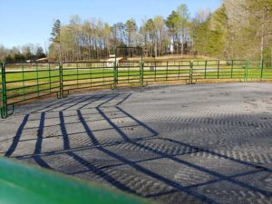 Round pen at Peace Reins